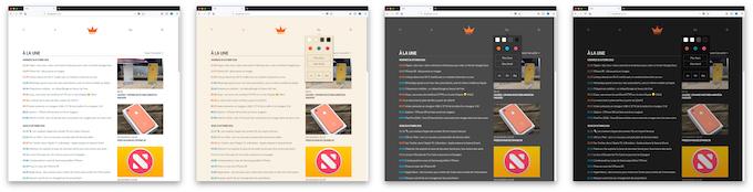 La version la plus simple de la page d'accueil du Club iGen, avec seulement la liste des articles. Nous proposons quatre thèmes et plusieurs couleurs d'accent au lancement. Ne prêtez pas trop attention aux détails : le Club iGen évolue tous les jours.