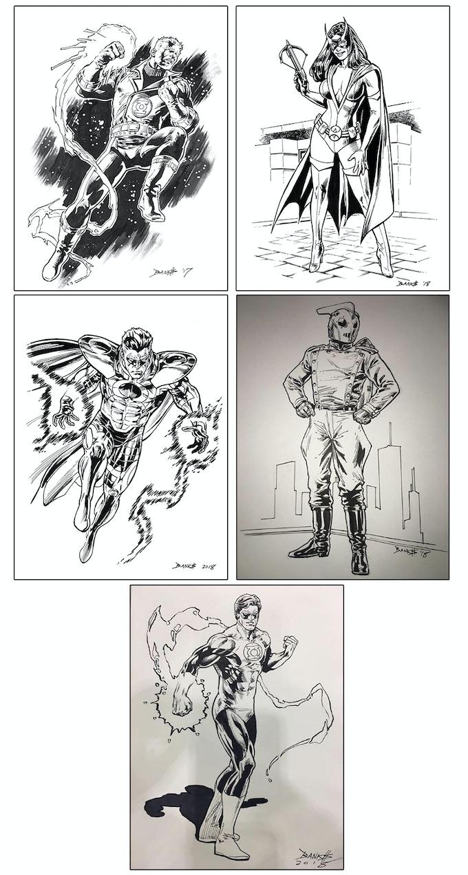 Darryl Banks Original Sketch Examples