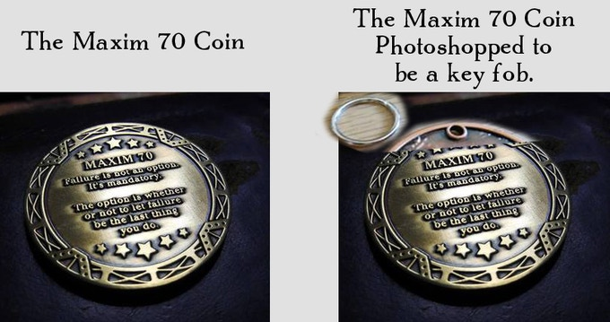 Photo by Daniel Jones. Photoshop Hackery by Howard Tayler. The final key fob will look much nicer than this.