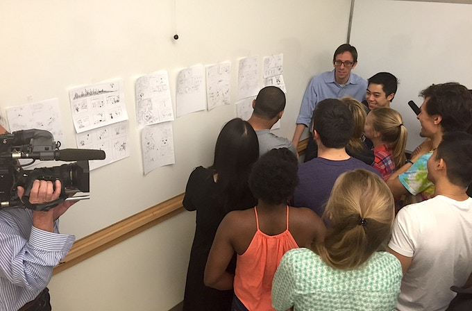 Dr. Benjamin Schwartz teaches Comic Book Storytelling to medical students as part of the Narrative Medicine curriculum at Columbia University Vagelos College of Physicians & Surgeons.