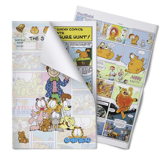 Finally, officially licensed card games of Garfield are great, but as a special tribute we want to showcase new Garfield comics the way they were intended.