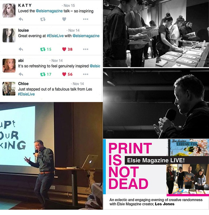 Reward #7 - An Elsie Magazine LIVE! event at your place. Highly visual, engaging and entertaining, check out the feedback from a few who've been to an Elsie event.