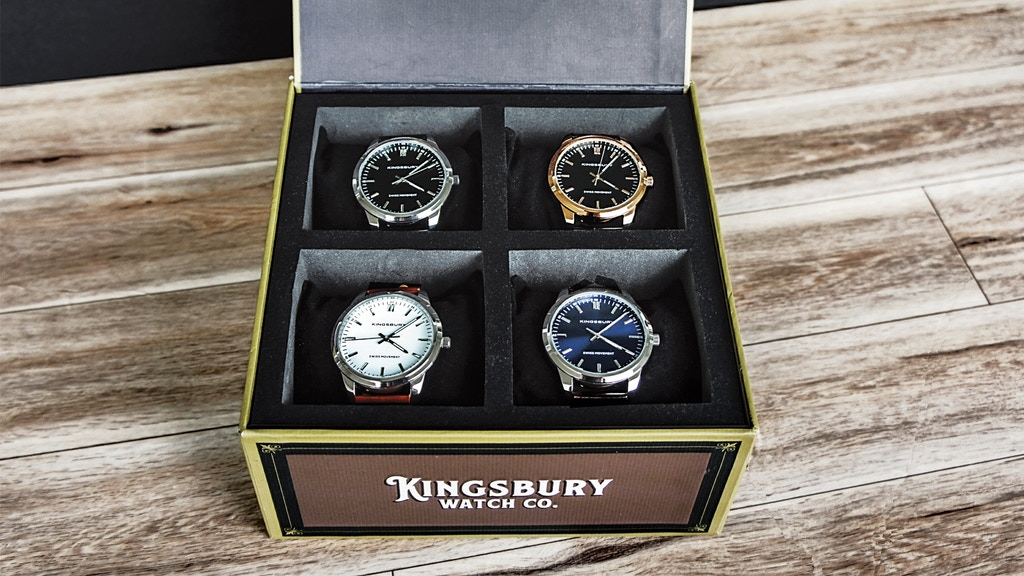 The Cigar Box Watch Set: A Pack of 4 Swiss Movement Watches