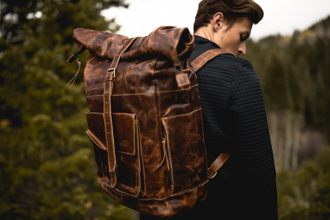 Kobuk Leather Backpack (Shown in Antique Brown)