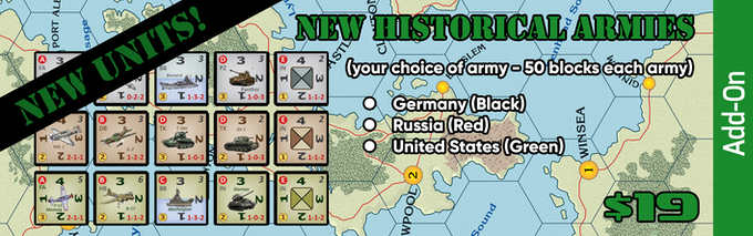 Three historical armies - Germany, Russia, and the United States. Specific Units!