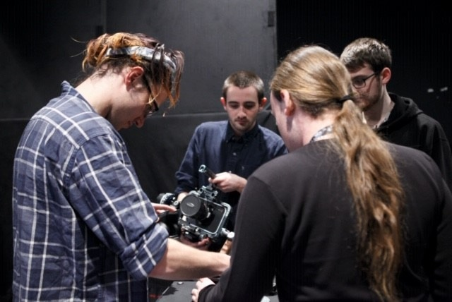 Some of our Crew Hard at Work at the First Shoot (Photo By: C. Emanuele)