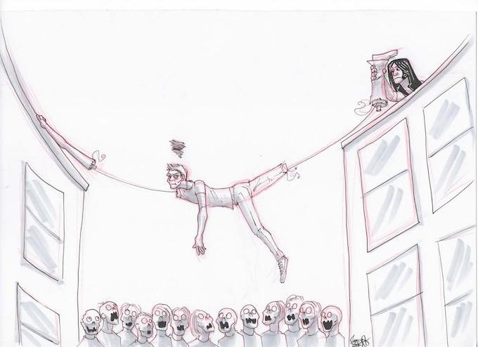 Kunstmann Inktober #7 - Stretch