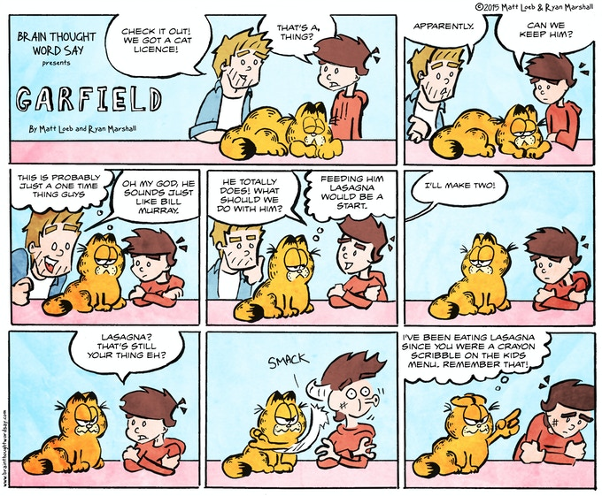 Brain Thought Word Say Presents Garfield by Matt Loeb and Ryan Marshall