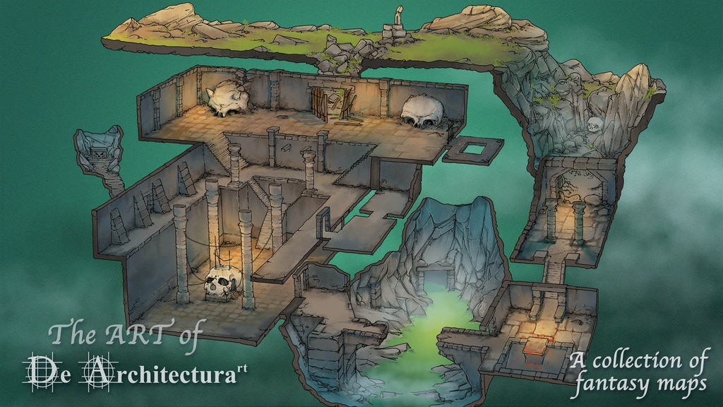 The ART of De Architecturart: collection of fantasy maps project video thumbnail