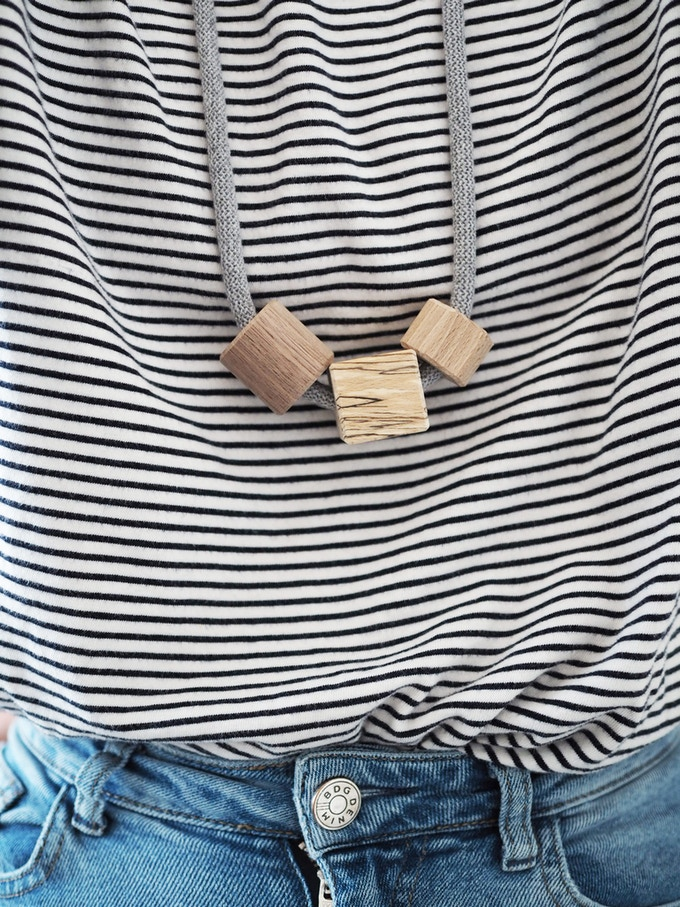 Minimal Wooden Necklace