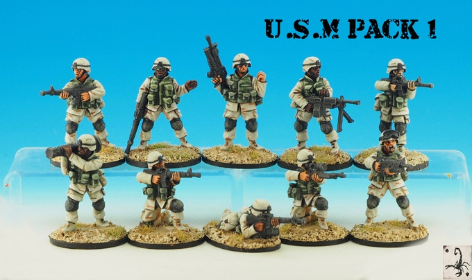 MARINE PACK 1. (10 MODELS)