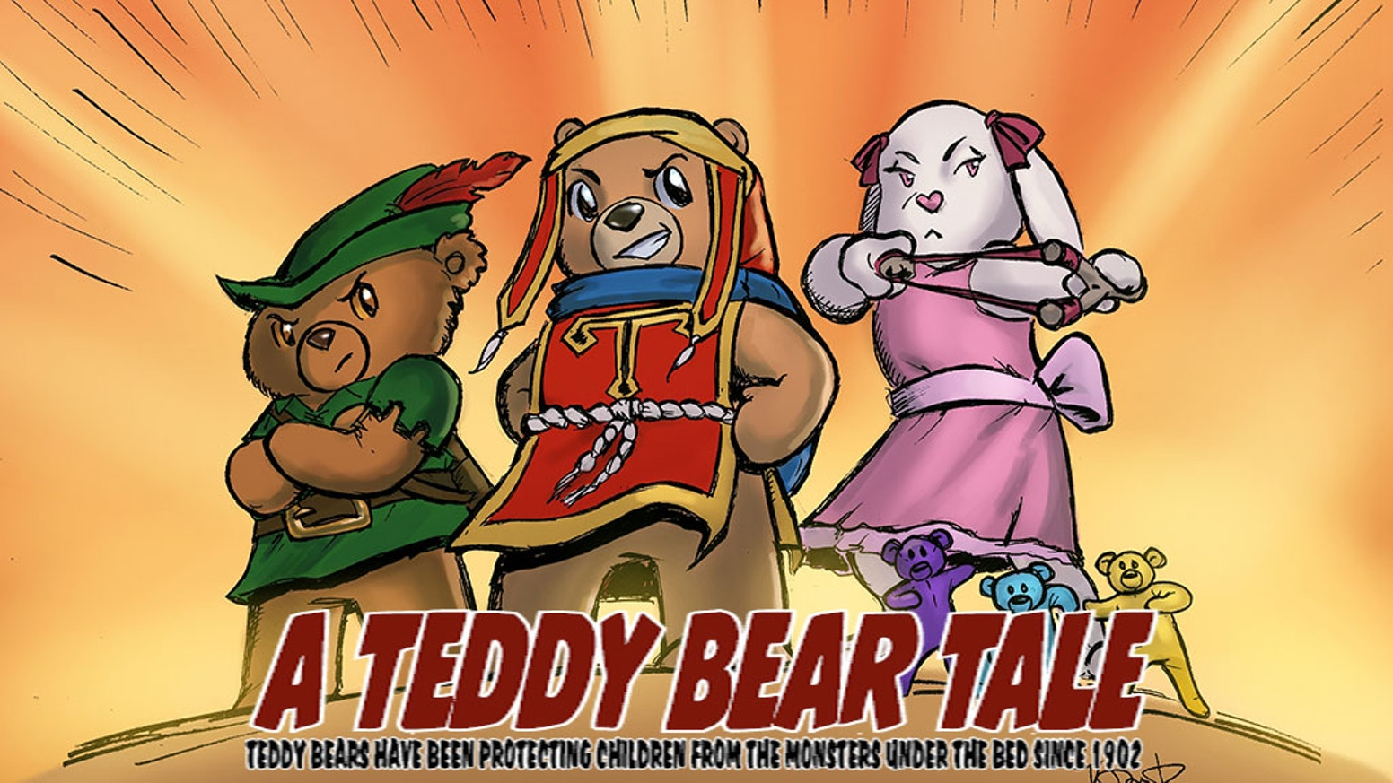 Teddy Bears have been protecting children from Monsters for over 100 years! Join the adventure in this all-ages action comic book.