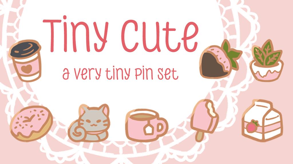 Tiny Cute - A very tiny enamel pin set