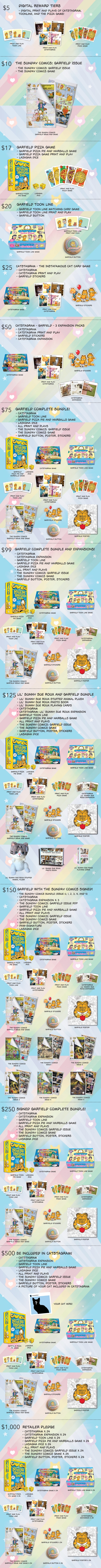 Remember, if you want to keep things simple, we have three games and a comic to offer! So you're always going to get either Catstagram, Garfield Pizza Pie and Hairballs, Garfield Toon Line, or the special Garfield-themed issue of The Sunday Comics.