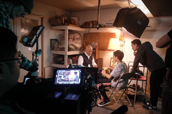 Bao directing Roger Yuan (Sifu Cheung) and Kieran Tamondong (Young Danny)