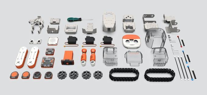 The MoonBot Kit parts at a glance