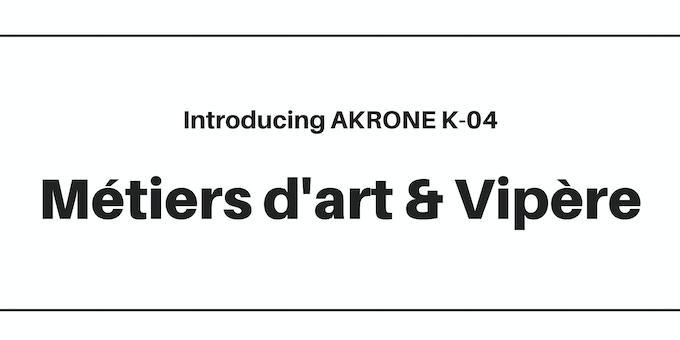 AKRONE K-04 Luxury Swiss automatic watch assembled in