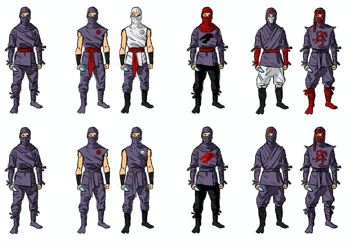 Concept art of knifesmen