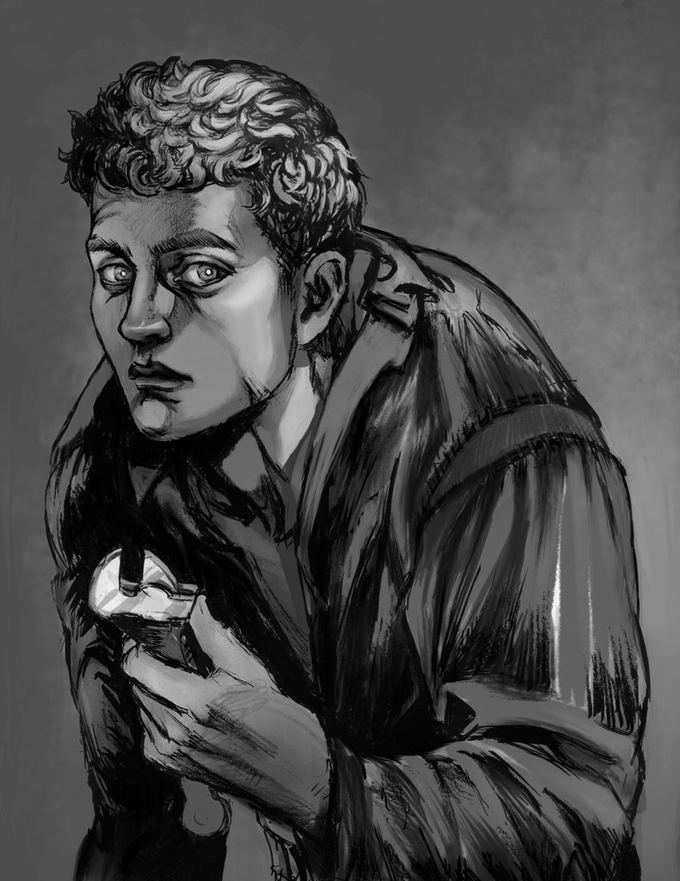 Otto Keller, handyman and janitor - art by Gyodragon courtesy of Encounter Roleplay