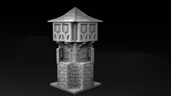 Castle wall corner section