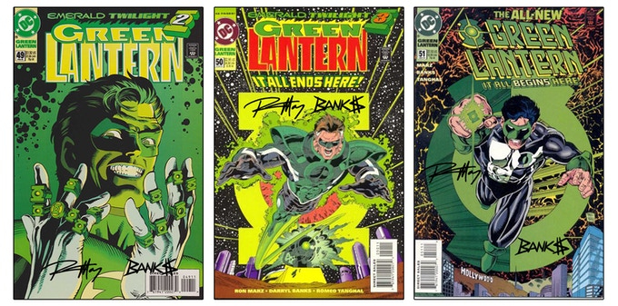 Green Lantern Issues 49,50, and 51 signed by Ron Marz and Darryl Banks