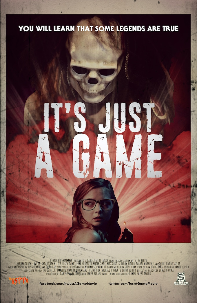 """[The official """"IT'S JUST A GAME"""" Poster]"""