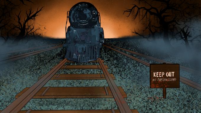 Concept Art of Haunted Train, circa 2018.