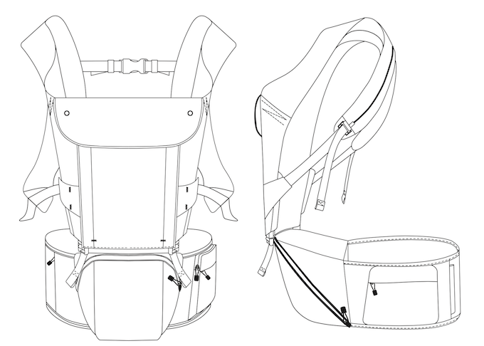 HIPSTER Smart hip seat baby carrier by MiaMily — Kickstarter