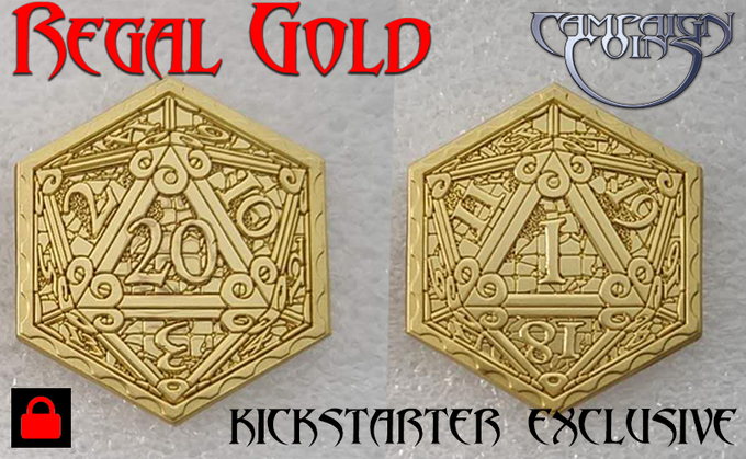 Regal Gold limited edition Epic D20 Coin