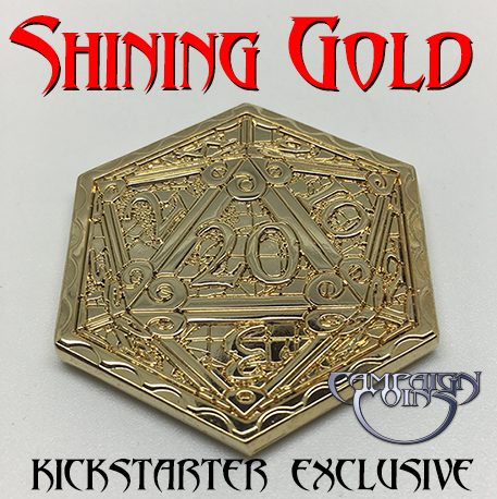 Shining Gold limited edition Epic D20 Coin