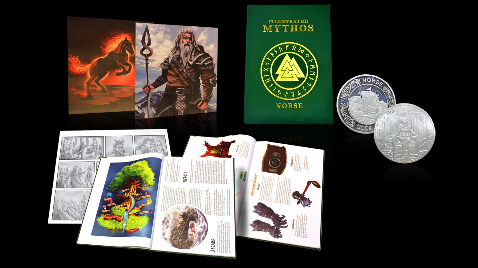 Illustrated Mythos Series - Norse Coffee Table Book by