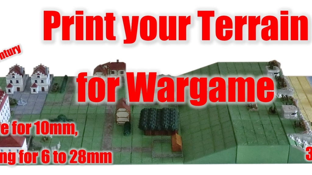20th century terrain for Wargame - 3D stl files project video thumbnail