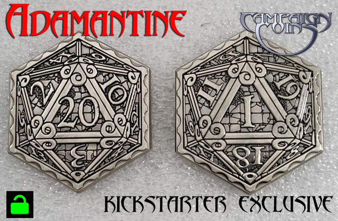 Adamantine limited edition Epic D20 Coin