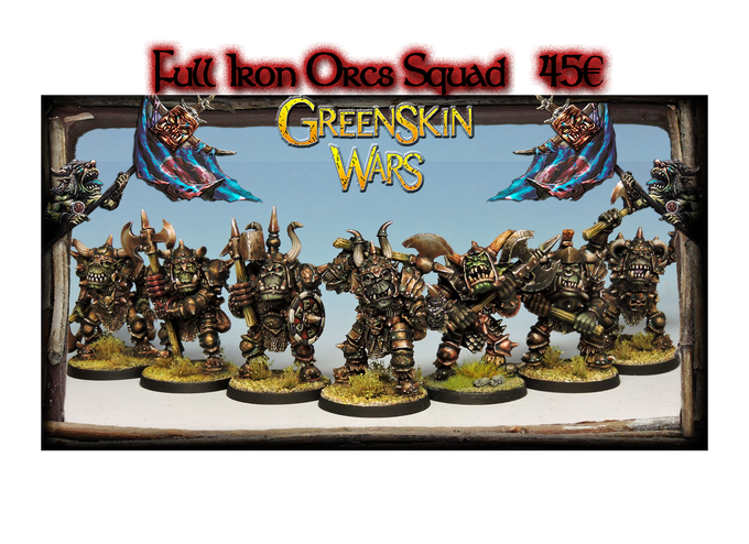 """This """"Full"""" squad include the first released Iron Orc Boss miniature."""