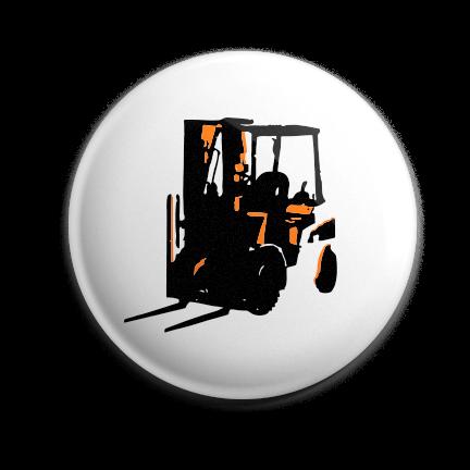 Working Class Press logo pin (orange)