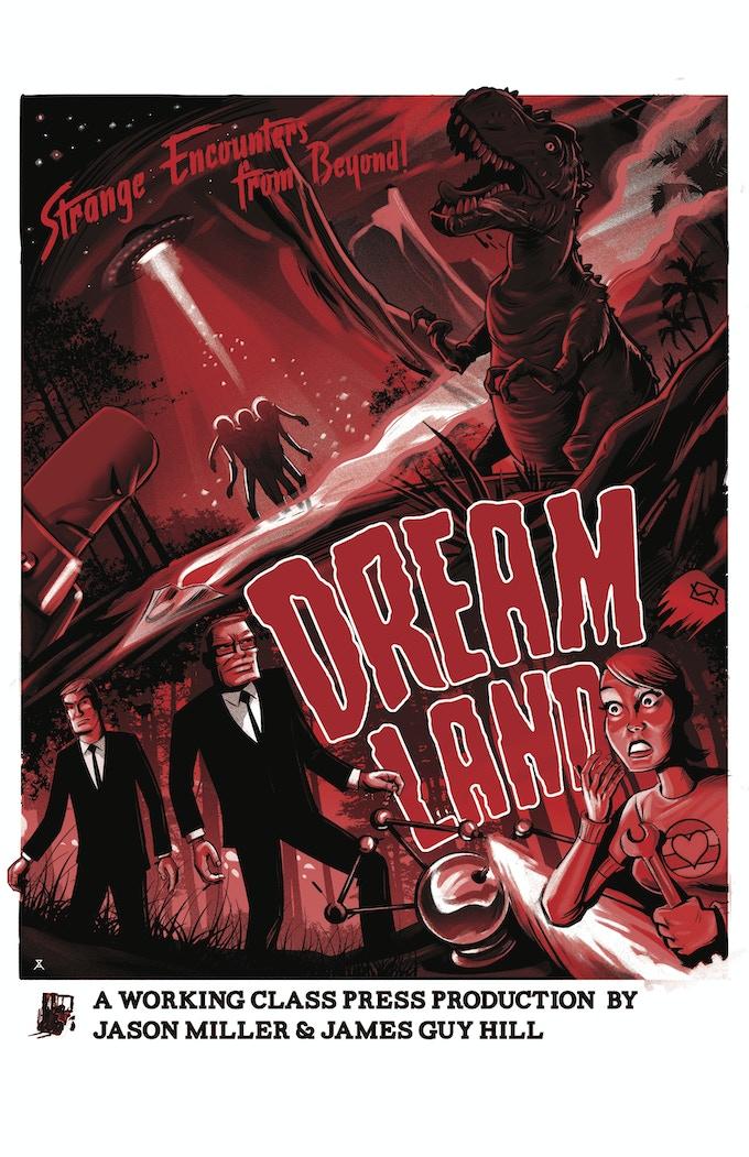 Dreamland poster by Alex Zablotsky 18x24 matte finish (red)