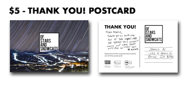 Receive this Thank You! Postcard Reward with a pledge of $5 or more