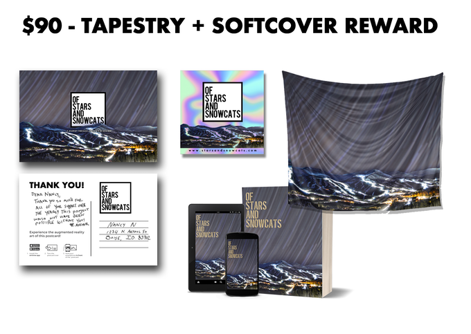 Receive this Tapestry + Softcover Reward with a pledge of $90 or more