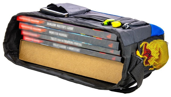 "DC Dungeons Messenger Bag with a ""Rogue's Set"" and room for plenty of books"