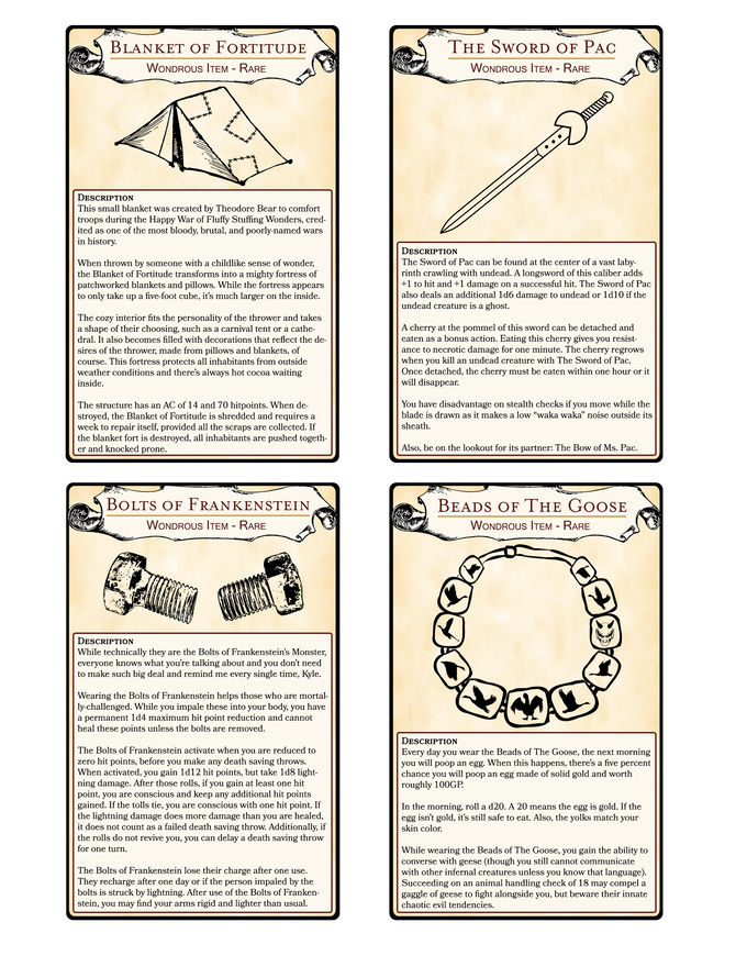 Printable Card - Front Example