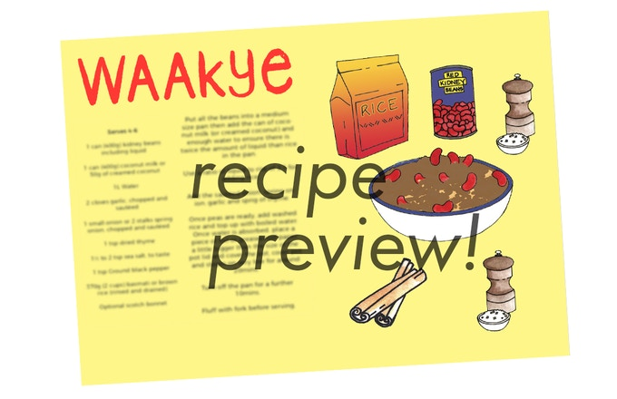 Recipe (Original Art by Robin Clare)