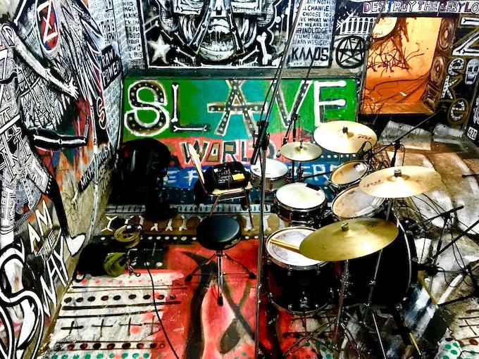 The secret underground warehouse studio...