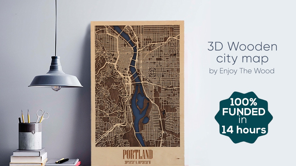 3D Wooden City Map to Create a Lasting Memory