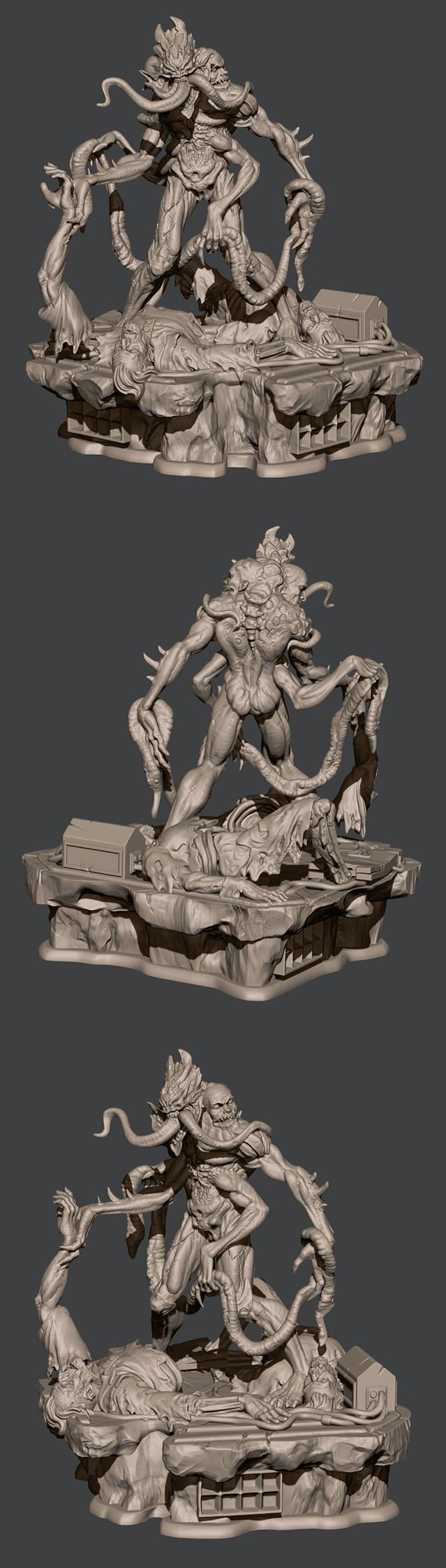 Epic Ravenous 3D modeling.