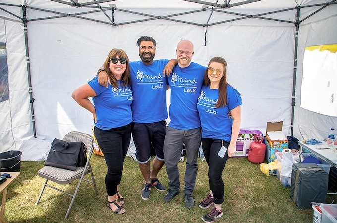 Some of the volunteers at the local Mental Health Charity. We've raised £10,000 so far.