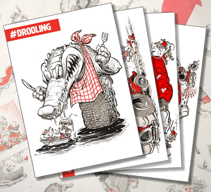 Send your loved ones a postcard with a drooling crocodile on it