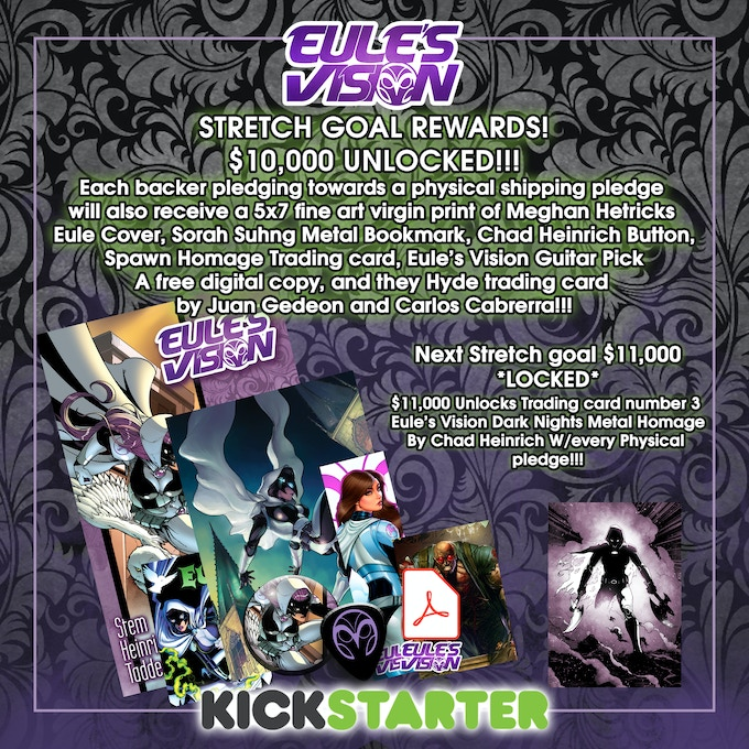 All the free stretch goal swag we've unlocked so far!!!