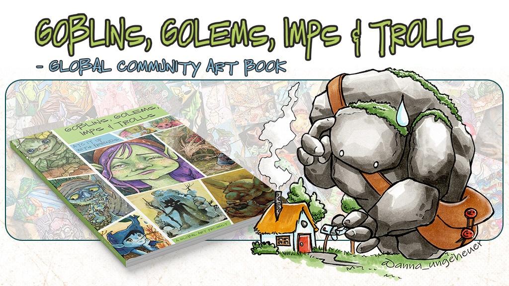 Goblins, Golems, Imps & Trolls - A Global Community Art Book project video thumbnail