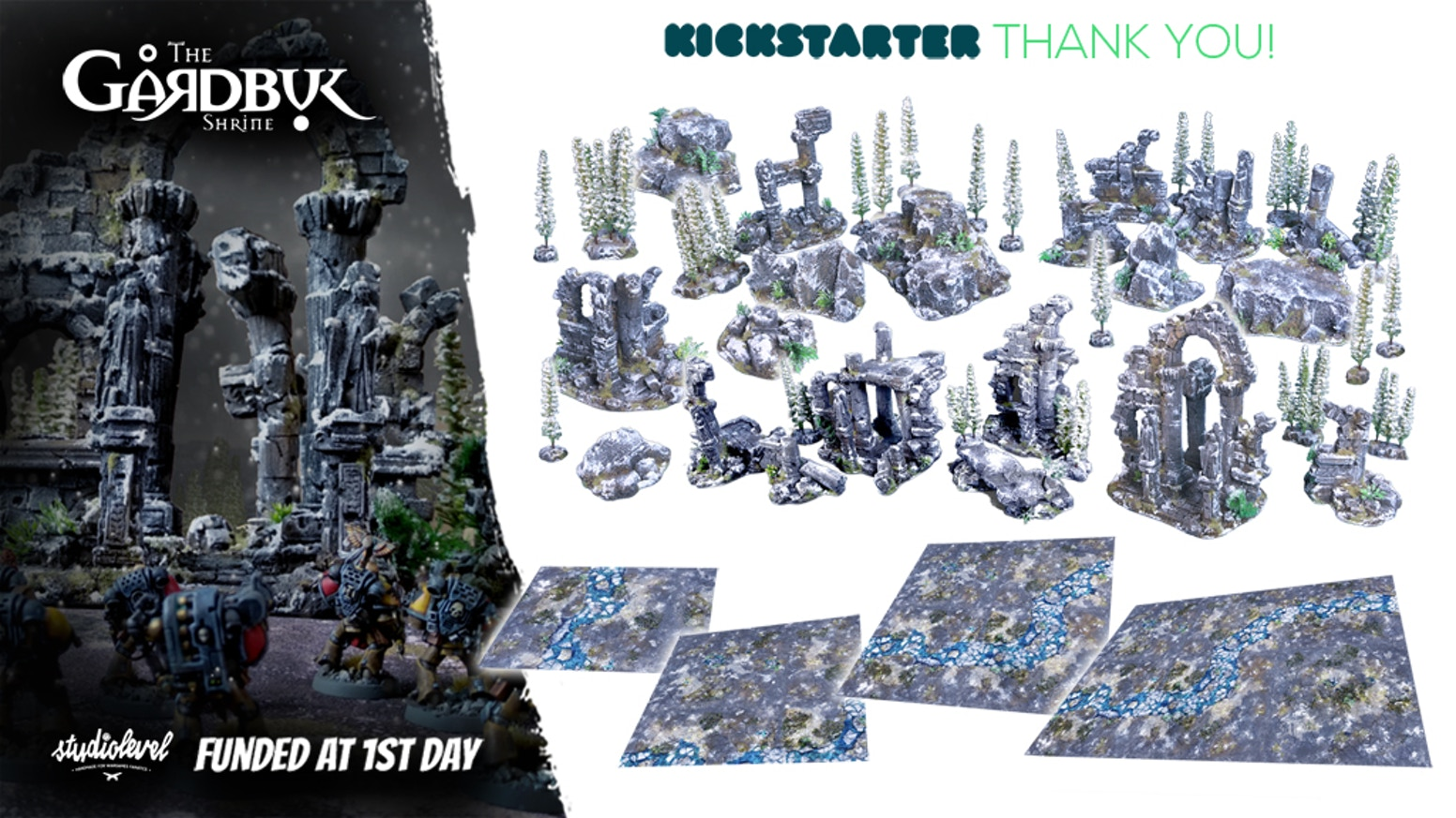 Build your dream wargaming, kill team board. Printed game mats & fully painted, handmade temple terrain. Join us today!