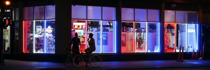 Photograph of a Corner Store in Downtown Sacramento, circa 2018.